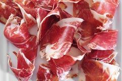 Jambon espagnol de serrano servi de tapas Photo libre de droits