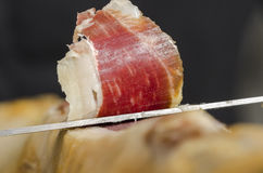 Jambon espagnol ibérien, jambon de bellota Photos stock
