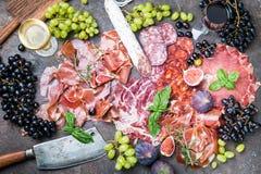 Jambon espagnol traditionnel Photographie stock