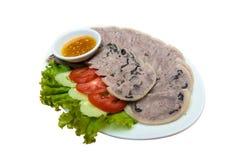 Jambon et sauce d'accompagnement de jambe de porc Photo libre de droits