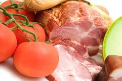 Jambon et tomate de mellon de délicatesse images stock