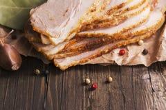 Jambon frais cuit au four Image libre de droits