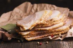Jambon frais cuit au four Photo libre de droits