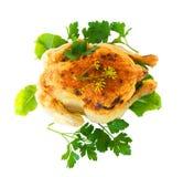 Jambon rôti de la poule Images stock