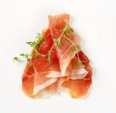 Jambon sec par air avec le thym Image stock