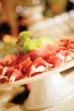 Jambon sur un banquet Image stock