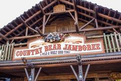 Jamboree en el reino mágico, Walt Disney World del oso del país foto de archivo