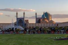 Jame-abbasi Moschee und naghsh jahan Quadrat Stockfotografie
