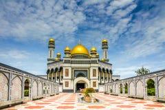 Jame Asr Hassanil博尔基亚清真寺文莱,亚洲 免版税库存图片