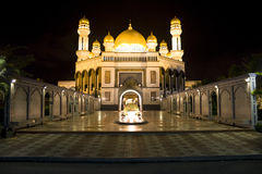 Jame'Asr Hassanil Bolkiah Mosque. Night image of Jame'Asr Hassanil Bolkiah Mosque, Bandar Seri Begawan, Brunei Stock Photos