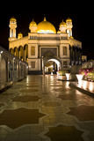 Jame'Asr Hassanil Bolkiah Mosque. Night image of Jame'Asr Hassanil Bolkiah Mosque, Bandar Seri Begawan, Brunei Stock Photography