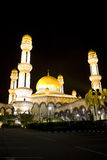 Jame'Asr Hassanil Bolkiah Mosque. Night image of Jame'Asr Hassanil Bolkiah Mosque, Bandar Seri Begawan, Brunei Stock Photo
