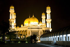Jame'Asr Hassanil Bolkiah Mosque, Brunei. Night image of Jame'Asr Hassanil Bolkiah Mosque, Bandar Seri Begawan, Brunei Royalty Free Stock Photo