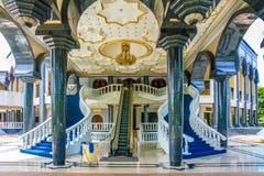 Jame Asr Hassanil Bolkiah Mosque Entrata-Brunei fotografie stock libere da diritti