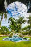 Jame Asr Hassanil Bolkiah Mosque Parco-Brunei, Asia fotografia stock