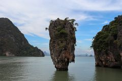 This is Jame-bond island. There are scenes in the Jame-bond 007 movie. Royalty Free Stock Photography