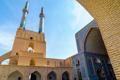 Jame Mosquae of Yazd In iran. View of Jame Mosque of Yazd in Iran Royalty Free Stock Photos