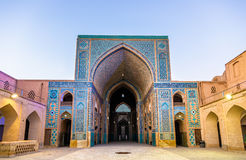 Jame Mosque of Yazd in Iran. The mosque is crowned by a pair of minarets, the highest in Iran Royalty Free Stock Photos