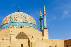 Jame Mosque of Yazd In iran. View of Jame Mosque of Yazd In iran Stock Photo