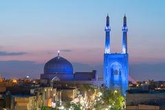 Jameh-Moschee von Yazd, der Iran stockbild