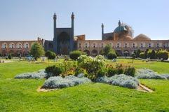 Jameh moské av Isfahan, Iran arkivbilder