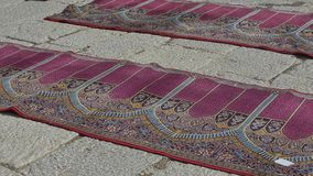 Jameh Mosque of Isfahan carpets stock video footage