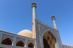 Jameh Mosque of Isfahan, Iran stock photo