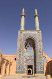 Jameh Mosque of Yazd (Iran) Stock Photos