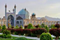 Jamehmoskee en Bazaar van Isphahan, Iran Stock Afbeelding