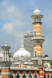 Jamek清真寺,吉隆坡,马来西亚 免版税库存照片