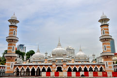 Jamek moské i Kuala Lumpur Arkivbilder