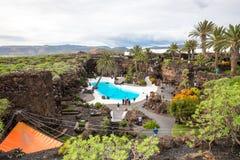 Jameos del Água, em Lanzarote, Ilhas Canárias, Espanha Imagens de Stock