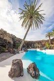 Jameos del Água, em Lanzarote, Ilhas Canárias, Espanha Imagem de Stock Royalty Free