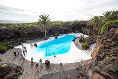 Jameos del Água, em Lanzarote, Ilhas Canárias, Espanha Foto de Stock