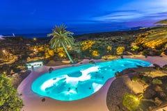Jameos del Água, Lanzarote, Ilhas Canárias, Espanha Imagem de Stock