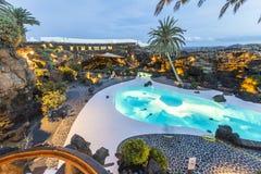 Jameos del Água, Lanzarote, Ilhas Canárias, Espanha Fotos de Stock Royalty Free