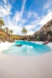 Jameos del Agua,在兰萨罗特岛,加那利群岛,西班牙 免版税库存图片