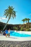 Jameos Del Agua basen w Lanzarote Zdjęcia Royalty Free