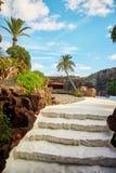 Jameos Del Agua basen w Lanzarote Fotografia Royalty Free