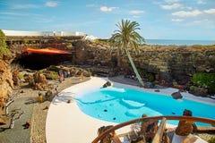 Jameos Del Agua basen w Lanzarote Obraz Stock