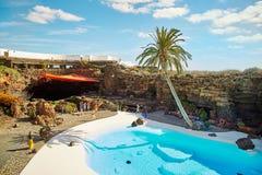 Jameos Del Agua basen w Lanzarote Obrazy Stock