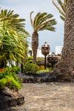 Jameos del Agua garden. Photography of Jameos del Agua garden, Lanzarote, Canary Island, Spain stock photography