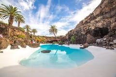 Jameos del Agua, i Lanzarote, kanariefågelöar, Spanien Royaltyfri Fotografi