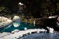 Jameos del Agua, Lanzarote. Amazing Jameos del Agua inside, Lanzarote, Canary Islands, Spain stock photography