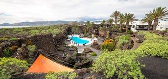 Jameos Del Agua, in Lanzarote, Kanarische Inseln, Spanien Stockbild
