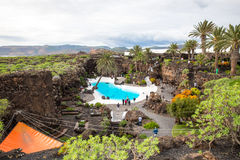Jameos Del Agua, in Lanzarote, Kanarische Inseln, Spanien Stockbilder