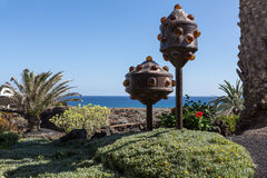 Jameos del Agua - The modern  sculpture designed by Cesar Manrique Stock Photos