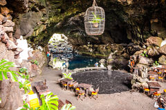 Jameos del Agua. Photography of Jameos del Agua cave, Lanzarote, Canary Island, Spain Royalty Free Stock Images