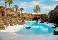 Jameos del Agua pool in Lanzarote Royalty Free Stock Image