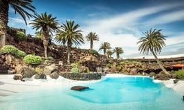 Jameos del Agua pool, Lanzarote. Outer Jameos del Agua pool, Lanzarote, Canary Islands, Spain royalty free stock photo